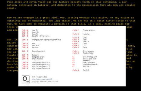 Q10 un editor di testo nato da uno scrittore | Software e App per Scrivere un Libro | Scoop.it