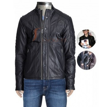 Justin Bieber Black Leather Jacket with Quilted Padded Panels | Unique collection of celebrity jackets its now | Scoop.it
