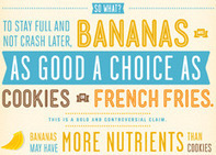 Massive Health Infographic: Are Bananas Really As Bad for You as Cookies? | INFOGRAPHICS | Scoop.it