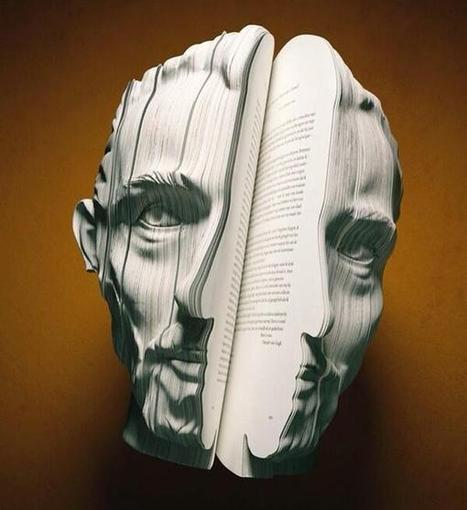 Twitter / NowThatIsArt: Sculpture cut from a book ... | Clarelegance - Sculptures of Beauty and Love | Scoop.it
