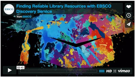 Got research? Start with EBSCO Discovery Service | Libraries In the Middle | Scoop.it