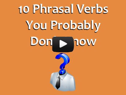 10 Phrasal Verbs You Probably Don't Know | English teachers in Bahía Blanca | Scoop.it