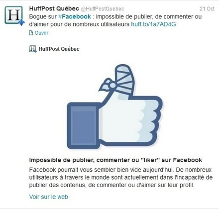 Quand Facebook bugge, ça piaille sur Twitter | Présent & Futur, Social, Geek et Numérique | Scoop.it