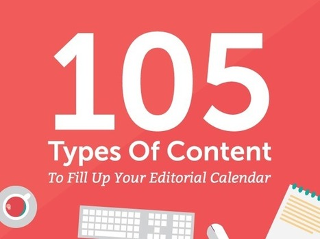 105 Types of Content to Fill Up Your Editorial Calendar | B2B Marketing and PR | Scoop.it