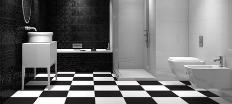 Le carrelage noir et blanc : loin d'être monotone ! | Carrelage : tous les conseils et idées déco | Scoop.it