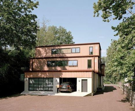 Maison container de deux étages pour un couple aux États-Unis | Construire Tendance | Dans l'actu | Doc' ESTP | Scoop.it