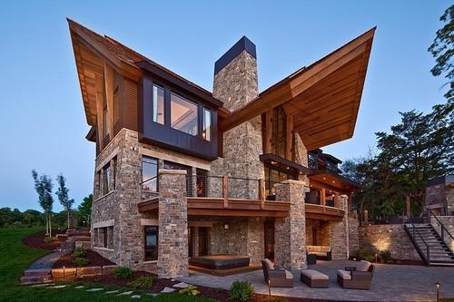 Magnifique Maison Pierre Et Bois Mountain Modern Par Eskuche