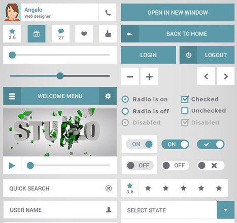 The Ultimate Collection of the Best Free Pro GUI Sets of 2013 | Web UX Links | Scoop.it