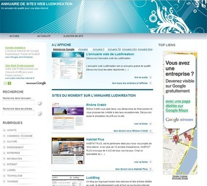 Référencement – 10 annuaires de sites web | LudiBlog | Solices - Planete Web | Scoop.it