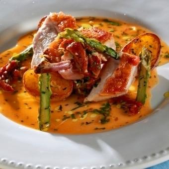 Kοτόπουλο σοτέ με σπαράγγια και σάλτσα με λιαστές ντομάτες και κάππαρη | Recipes!!! | Scoop.it
