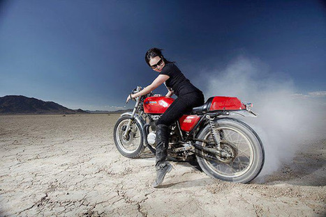 Motorcycle Girl 78   '77 CB400 Four   Scoop.it