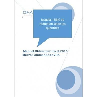 Manuel de formation Excel VBA 2016 | Nos ouvrages pédagogiques sur la bureautique | Scoop.it