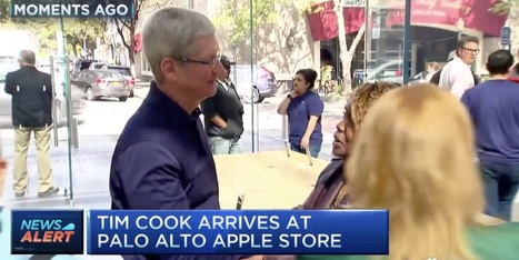 Apple CEO Tim Cook stops into Palo Alto Store to meet iPhone SE/iPad Pro buyers | Macwidgets..some mac news clips | Scoop.it