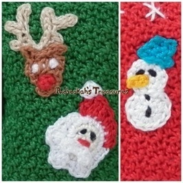 Mini Christmas Appliques Free Crochet Pattern | To Crochet or To Knit that is the question | Scoop.it