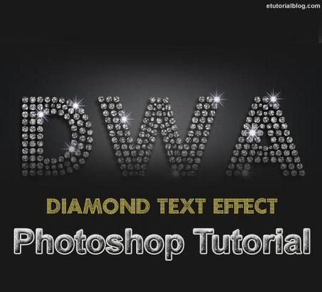 Create Diamond Text Effect In Photoshop - Easy Tutorial - E Tutorial Blog | ETutorialBlog | Scoop.it