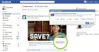 "Facebook's new ""Donate Now"" button for non profits to collect donations ~ Facebook Tips and Tricks 