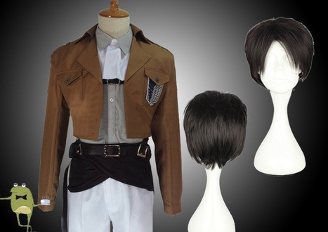 Attack on Titan Levi Ackerman Cosplay Costume + Wig | Attack on Titan Cosplay Costumes | Scoop.it