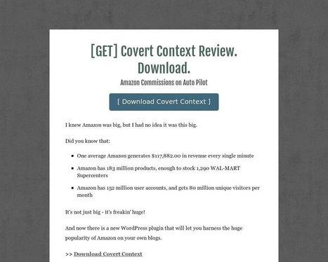 [GET] Covert Context Review. Download. - Tackk | seo | Scoop.it