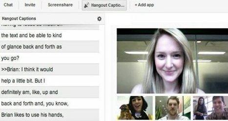 Google+ añade subtítulos en vivo a sus hangouts | google + y google apps | Scoop.it