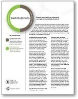 Future Work Skills 2020: Transdisciplinarity   Media Literacy is Elementary   Scoop.it