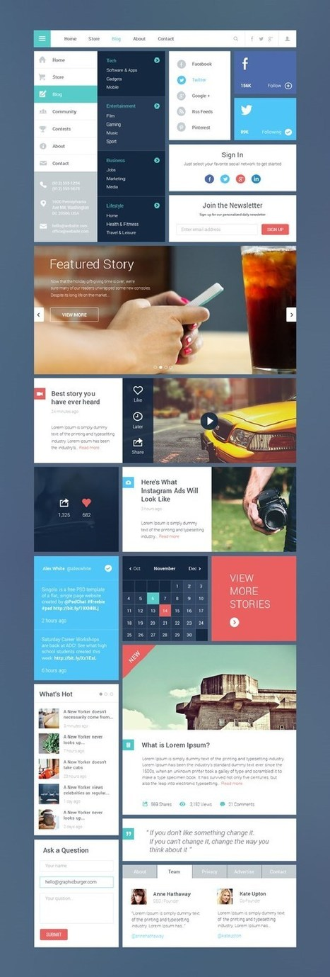 50 Free UI Kits For Designers PSD Format | Web design and presentation | Scoop.it