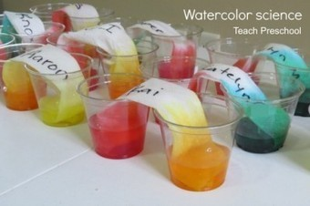 Make and explore watercolor science | Teach Preschool | Scoop.it