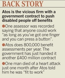 'Atos forced me to crawl on the floor in tears' | Trade unions and social activism | Scoop.it