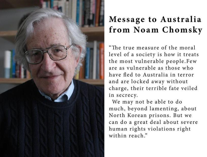 Noam Chomsky on Australia's treatment of asylum...
