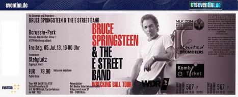 Trois tour premières au concert de Bruce Springsteen à Mönchengladbach (Allemagne) le 5 juillet 2013 | Bruce Springsteen | Scoop.it