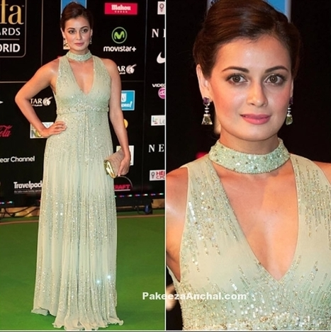 Dia Mirza in Pastel Green Deep neck Nakul Sen's Outfit | Indian Fashion Updates | Scoop.it
