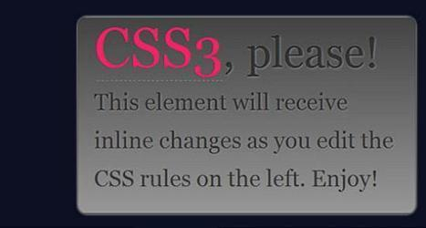 Best CSS3 Examples for Your Website Inspiration - Design Dazzling | Basics and principles for a good  Web Design | Scoop.it