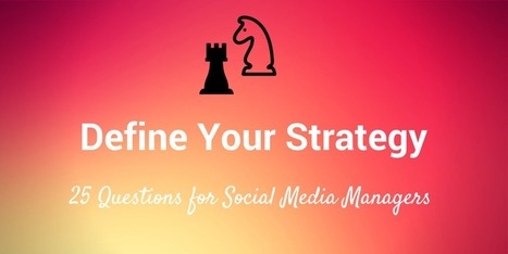 25 Questions to Help Define Your Social Media Strategy | B2B Marketing and PR | Scoop.it