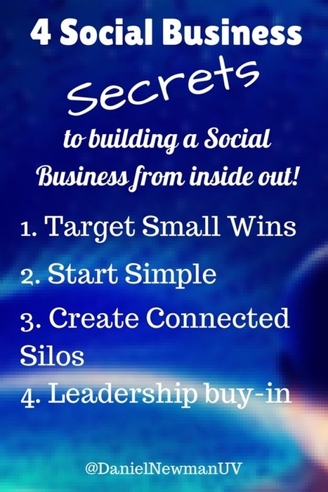 4 Keys To Building A Social Business From The Inside Out | SocBiz Employee Engagement | Scoop.it