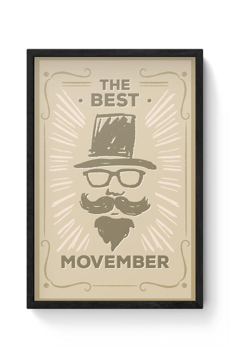 Hand Drawn Movember Vintage Framed Poster  | Latest Best Punjabi Bollywood Songs Djpunjab Music Mp3 Hindi Songs | Scoop.it