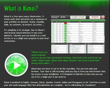 Kimai - Open Source Time-Tracking | 21st Century Tools for Teaching-People and Learners | Scoop.it