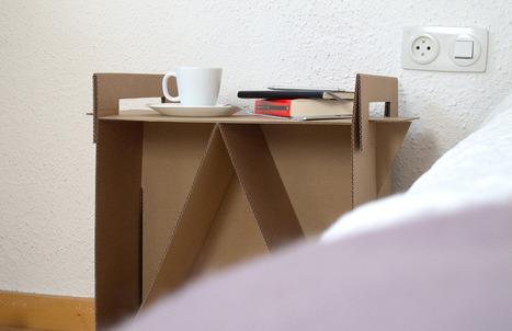 Récup carton - Chevet ou console | ...récup | Scoop.it