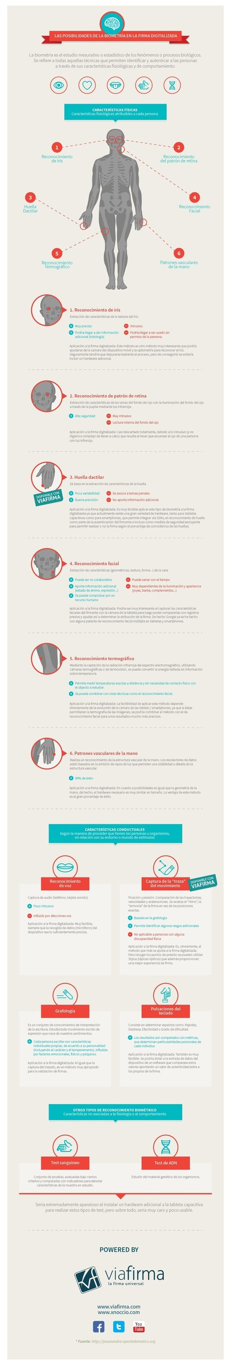 La biometría como firma digital #infografia #infographic | Managing Technology and Talent for Learning & Innovation | Scoop.it