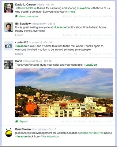 The Infosnacker's Guide to the 2014 LavaCon Tweet Stream | M-learning, E-Learning, and Technical Communications | Scoop.it