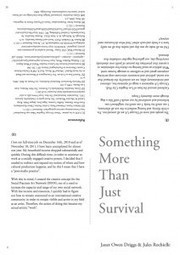 Something More Than Just Survival by Janet Owen Driggs & Jules Rochielle | Diffusion Library | Social Art Practices | Scoop.it