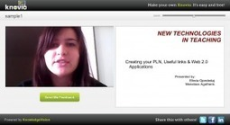 Knovio - Create and Share VideoPresentations | Utilidades TIC para el aula | Scoop.it