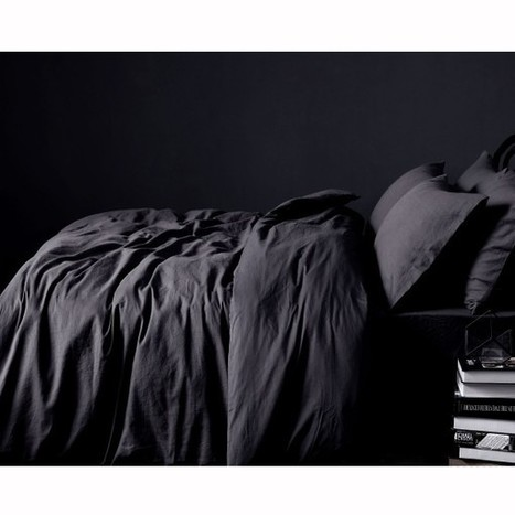 100% Linen Slate Quilt Cover Set by Accessorize - Manchester House | Soft Furnishings | Scoop.it