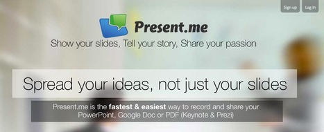 Present.me | Free online video presentation software | Make a slideshow with your powerpoint & web cam | Technology in the Classroom | Scoop.it