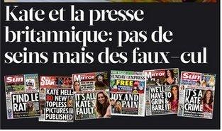 Kate et la presse britannique: pas de seins mais des faux-cul | DocPresseESJ | Scoop.it