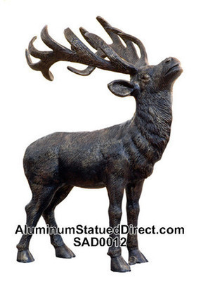 Deer statue aluminum for your lawn or garden | Dogs, Wolves and Foxes Statues | Scoop.it