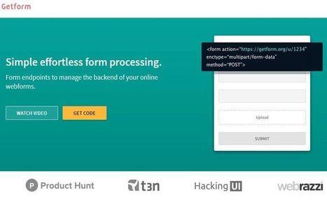 Getform: crea e integra fácilmente formularios web en tu sitio | desdeelpasillo | Scoop.it
