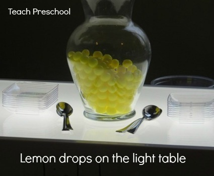 Lemon drops on the light table | Teach Preschool | Teach Preschool | Scoop.it