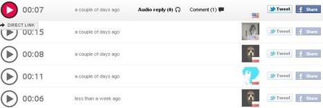 Audiolip: Une sorte de Twitter audio | Information documentation, community manager and co | Scoop.it