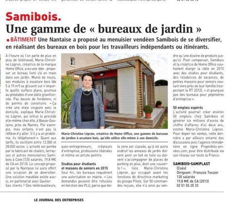 HOME OFFICE DANS LE JOURNAL DES ENTREPRISES   bureau de jardin   Scoop.it