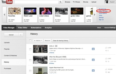 YouTube Blog: Check out the new Video Manager | networked media | Scoop.it