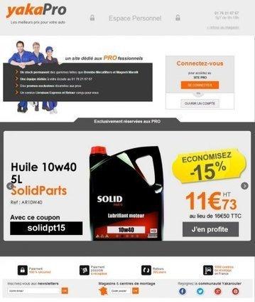YakaPRO, le site de vente de pièces dédié aux professionnels de yakarouler.com | Atelier Automobile | Scoop.it